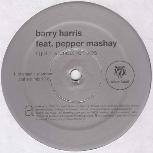 Barry Harris ft Pepper Mashay - I Got My Pride (Remix By KRONO)